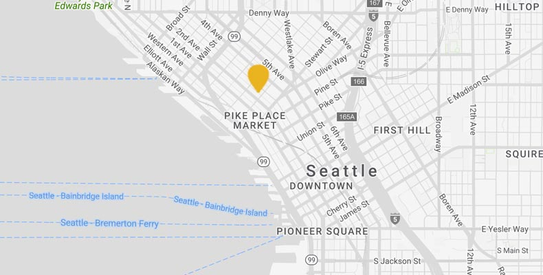 Seattle Hotel Map | Kimpton Palladian Hotel on